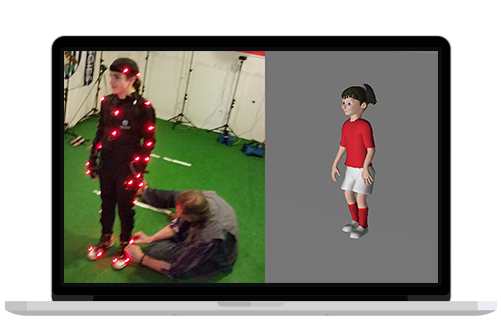 Image showing a MOTI Soccer Motion Capture technology